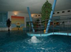 Swimming pool in Spa house Erika - water temperature of 30°C. The pool is equipped with whirlpool-massage- and against–jet–programme massage